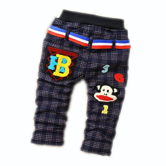 Boy Baby Warm Pants Children's Clothes Cotton-Padded Trousers 2015 Winter Pants Children Trousers  9 Months - 4 Years Old Lovely