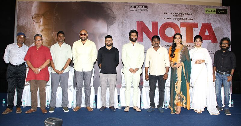 Vijay Devarakonda At NOTA Movie Team Meet