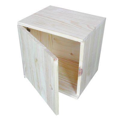 Caixa Madeira Modulavel 36x36x30 1 Porta Leroy Merlin Decor Furniture Home