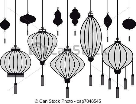 Chinese lanterns clipart google search tattoo lanternes chinoises lanterne lampion chinois - Dessin lampion ...