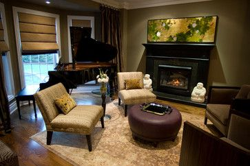 Nice Placement Of Baby Grand Piano Musical Chairs Eclectic