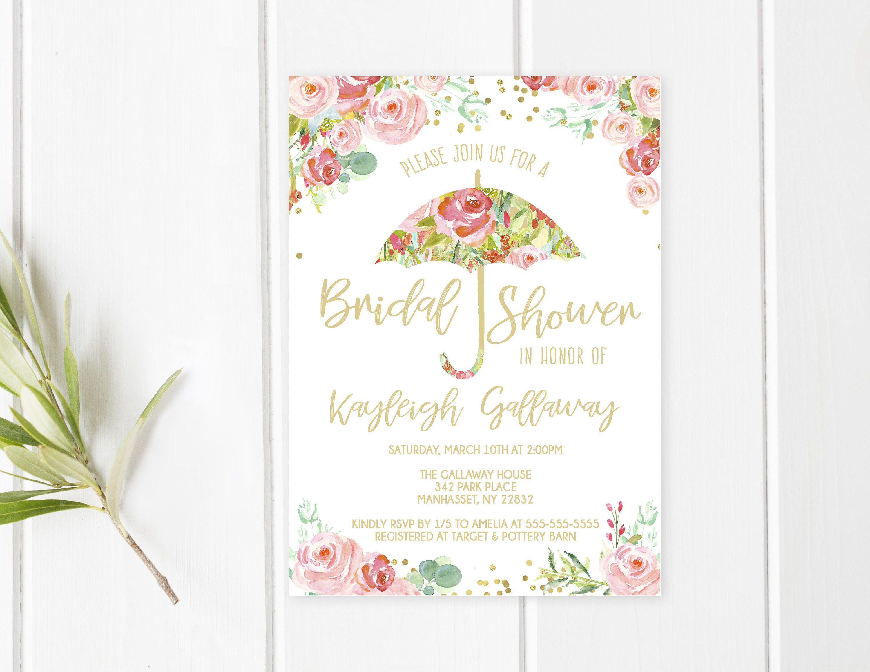 Bridal Shower Invitation Umbrella Bridal Shower Invite Pretty