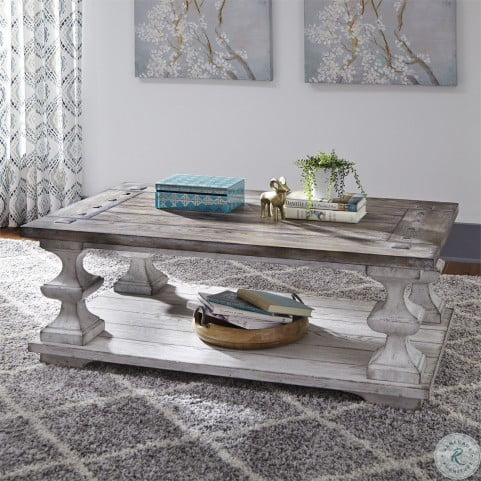 Sedona Heavy Distressed White Cocktail Table From Liberty 331 Ot1010 Homegallerystores Com Coffee Table Living Room Coffee Table Liberty Furniture