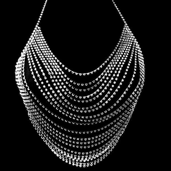 eccc0405ab9e2 Body jewelry sexy Diamond bralette rhinestone lingerie bikini chain bra  choker bralette body necklace chains