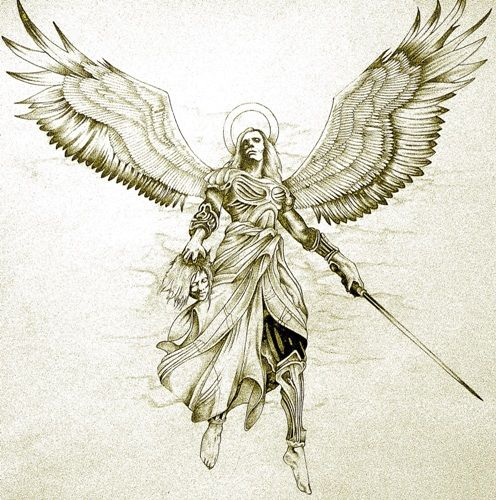 140f4ea3f 25 Beautiful Angel Tattoo Designs With Images | Tattoos | Archangel ...