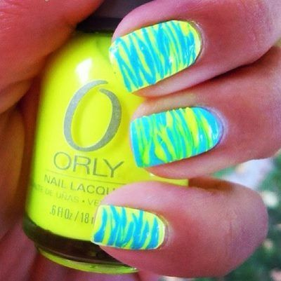 15 Stunning Neon Nail Designs to Rock | Blue nails