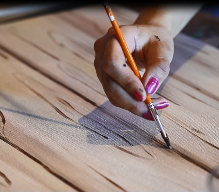 how to paint anything to look like wood
