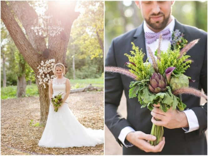 Floral by Disch Events; Bridal Gown by Blush Bridal Lounge, Wreath by Vintique Rentals; Photos by http://juliewilhite.com