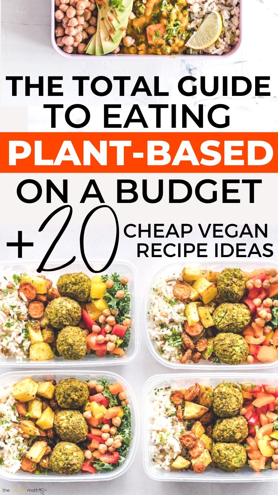 Plant Based On A Budget Vegan Meal Plan Grocery List Cheap Recipes Vegan Meal Plans Plant Based Eating Cheap Vegan Meals