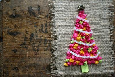 Make a Retro Tissue Tree | Kerst knutselen, Knutselideeën, Kerstmis