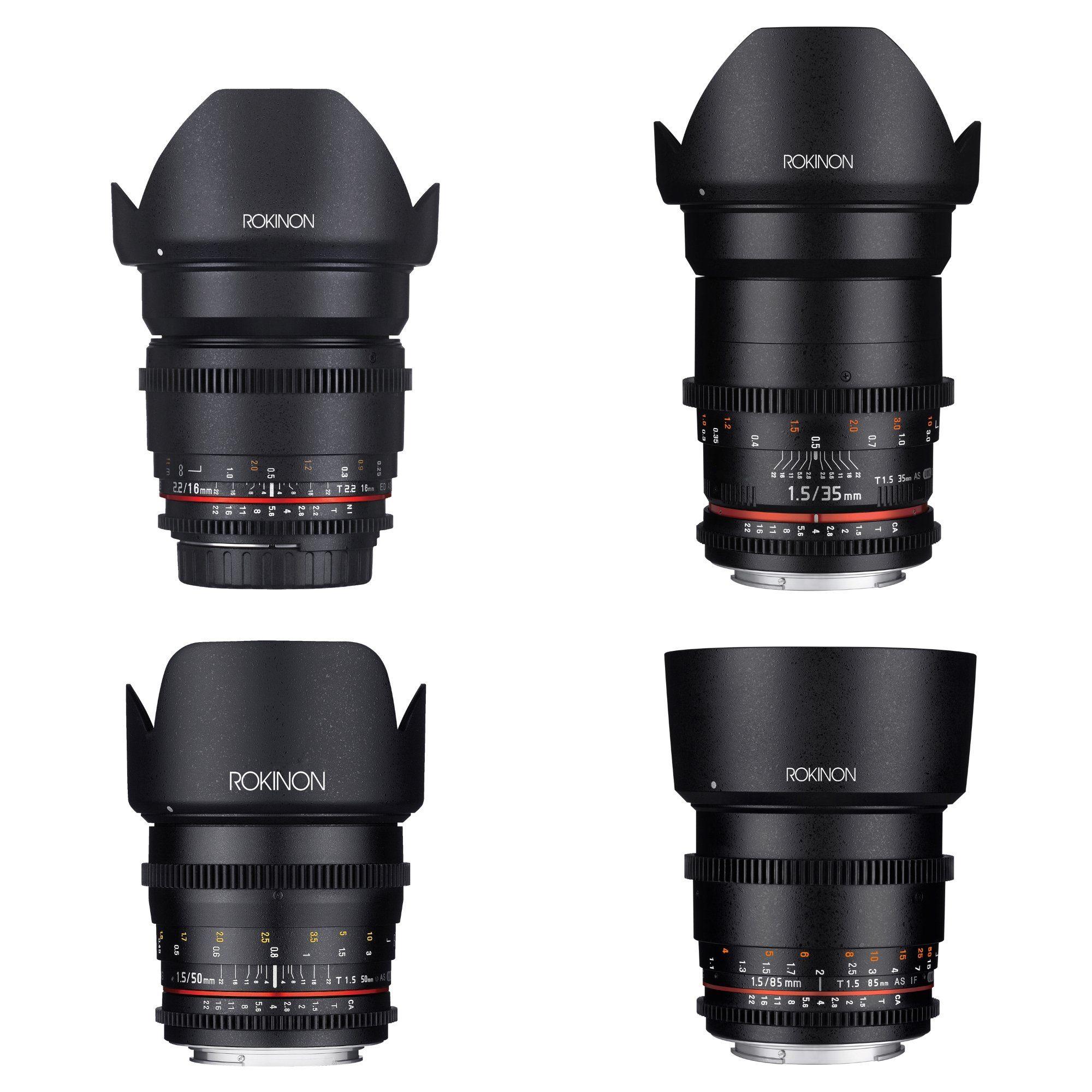 16 35 50 85mm Cine Ds Lens Bundle Canon Ef In 2021 Full Frame Sensor Lens Photo Lens