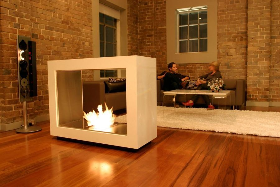 Enhance Your Home With Stand Alone Fireplace: Stunning Fashionable Design  Contemporary Freestanding Fireplace ~ Furniture