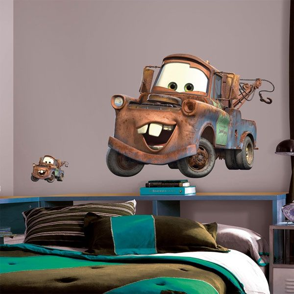 Delicieux Disney Cars Tow Mater Giant Wall Stickers (1 Set)