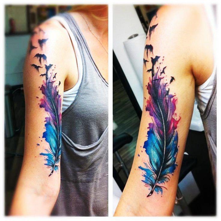 Single Feather tattoo tats Pinterest Tatuajes, Ideas de - tatuajes de plumas