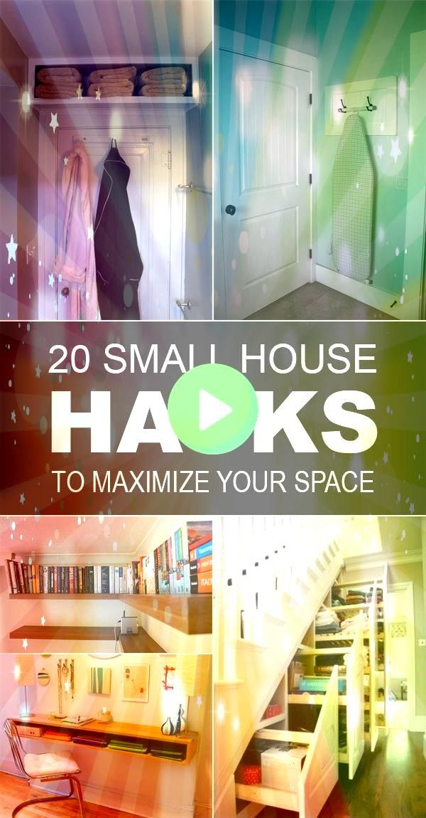 and tricks for small houses that will help you to use every inch of space t Small closet No problem Watch How To Organize A Small Closet Its your typical small reachin cl...