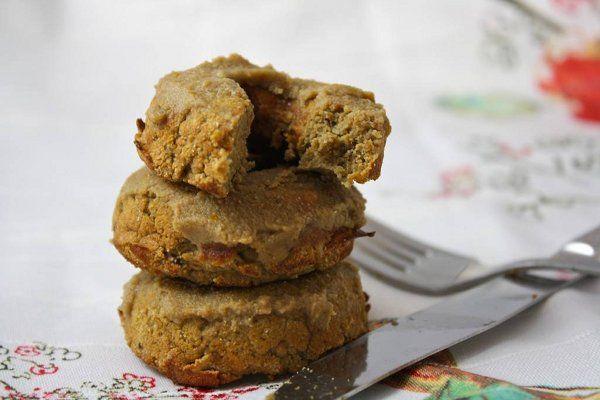Recept voor lekkere gluten vrije chocolade donuts. [Vegan, Gluten-Free]