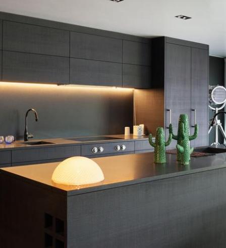 25++ Cuisine facade noir plan bois trends