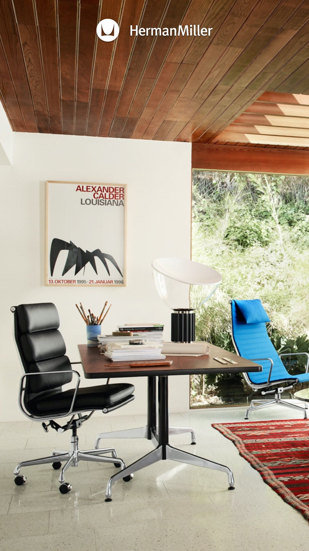 Eames Soft Pad Executive Chair In 2020 Home Office Chairs Executive Chair Home Office Furniture
