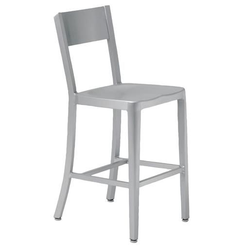 Etonnant Simple And Elegant, These Two Industrial Aluminum Counter Height Chairs Are  The Perfect Pair