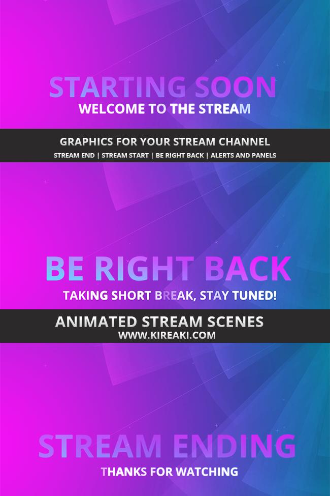 Kireaki Stream Design Animated Overlays And Scenes Scenes Animation Streaming