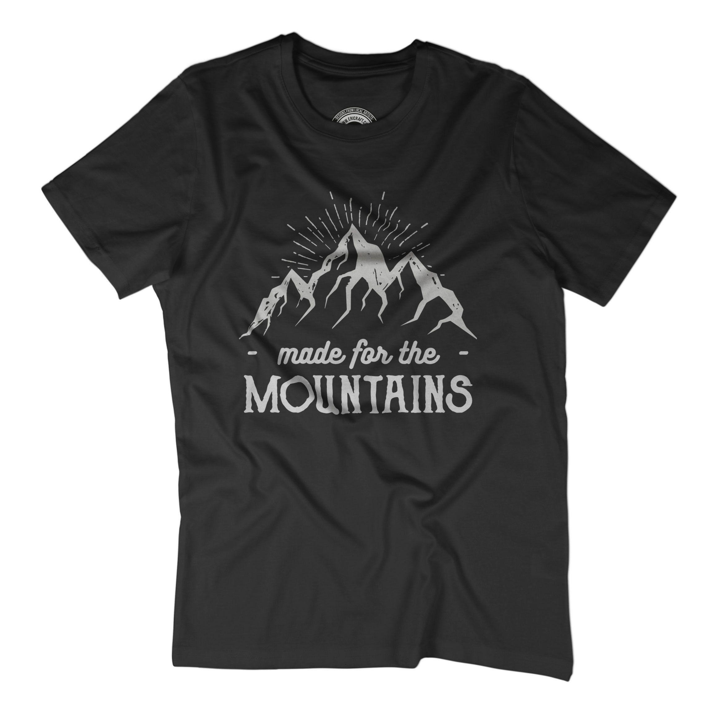 HIKING SHIRT Made for the mountains t-shirt Mountains are calling Nature t- shirt Graphic t shirt Mens minimalist nature shirt Pen art APV366
