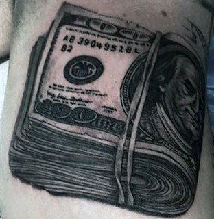 Stack Of Money Tattoo Drawing 50 money tattoos for men ...