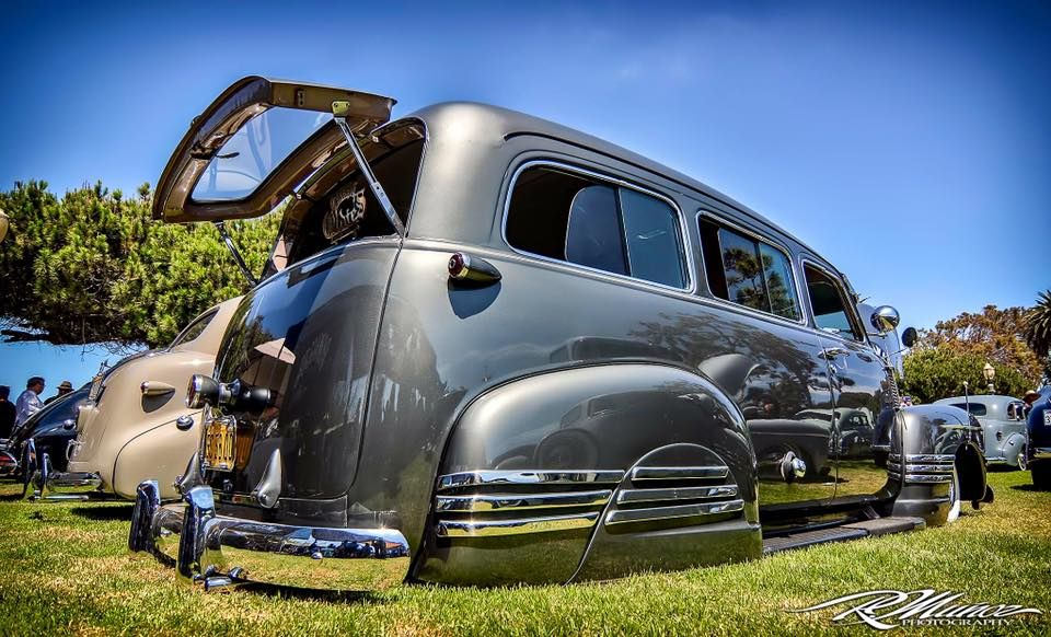 Advanced Design 1947 1948 1949 1950 1951 Chevrolet Suburban Slammed Out And Loaded Up With Tons Of Great Chrome Fac Classic Cars Chevy Vintage Trucks Chevy Hhr