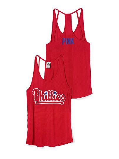 Philadelphia Phillies Strappy Racerback Tank PINK