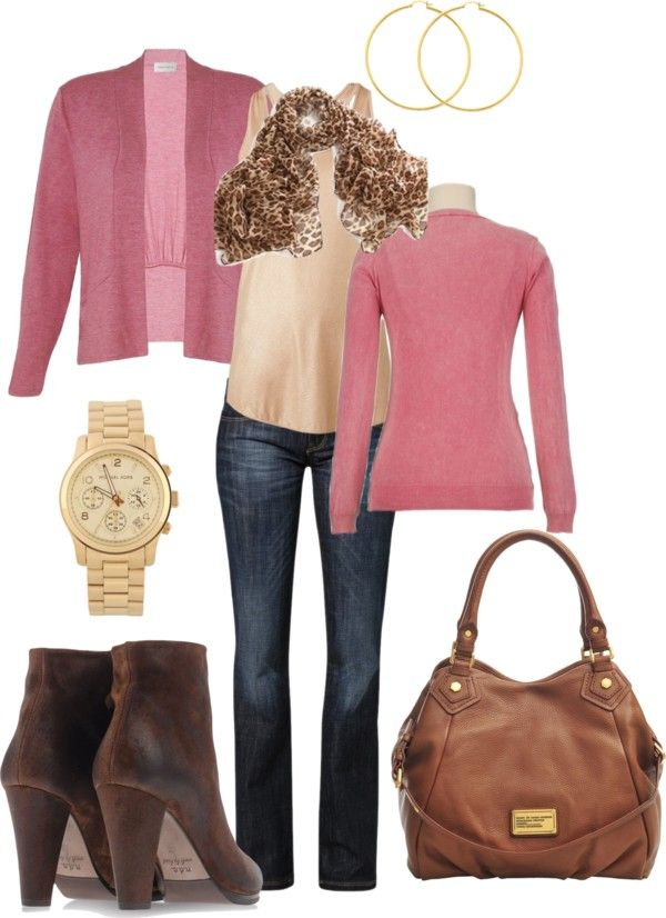 Dusty Pink Beige Brown And Gold Casual Outfit Casual Outfits Outfits Autumn Fashion