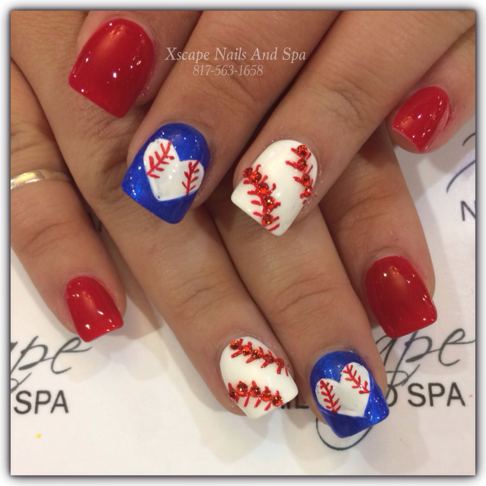 Nail designs | Cute Nails Designs | Pinterest | Baseball nails, Nail ...