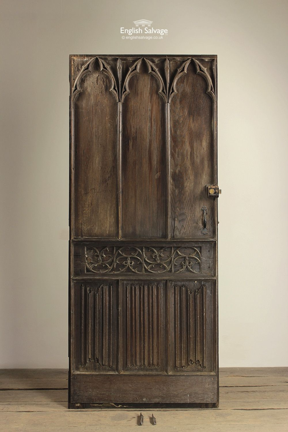 Providing everything from reclaimed doors flooring fireplaces stained glass and architectural pieces to antique garden items & Reclaimed Antique Oak Gothic Door | Doors Shutters Windows and ... pezcame.com