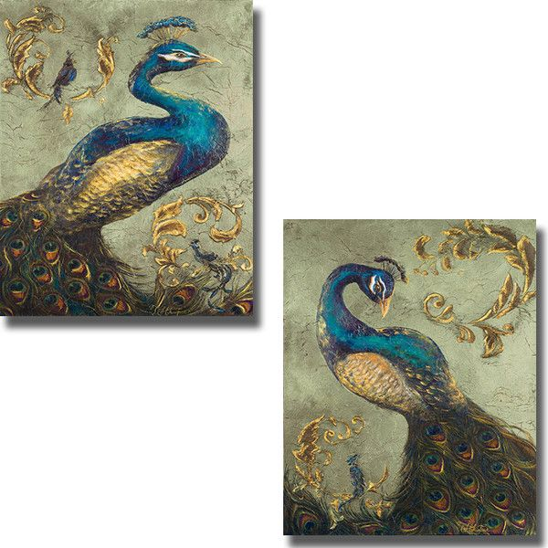 Tiffany Hakimpour Pea On Sage I And Ii 2 Piece Canvas Art Set