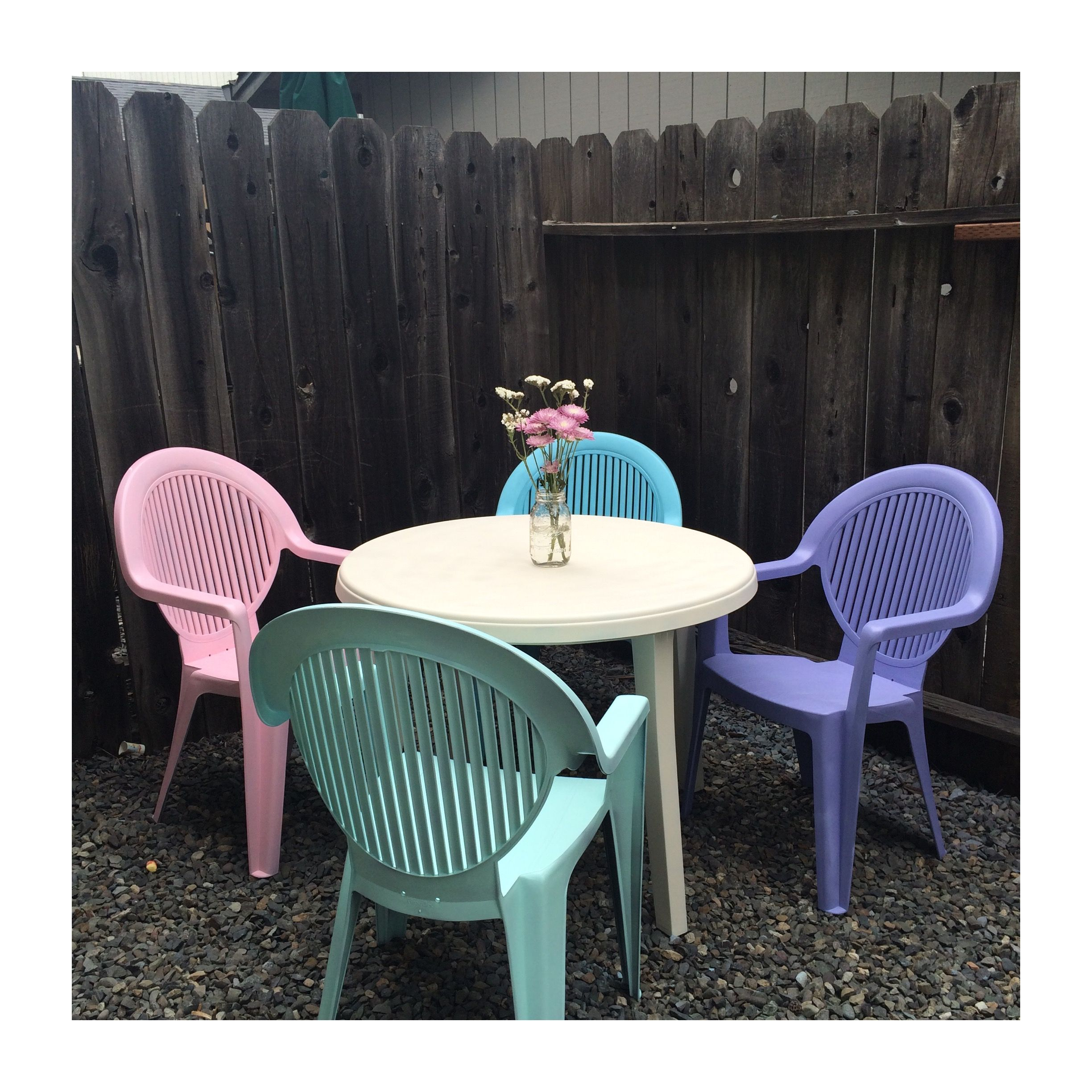 How to spray paint your patio set and breath new life in to it! On the Overly Blessed blog