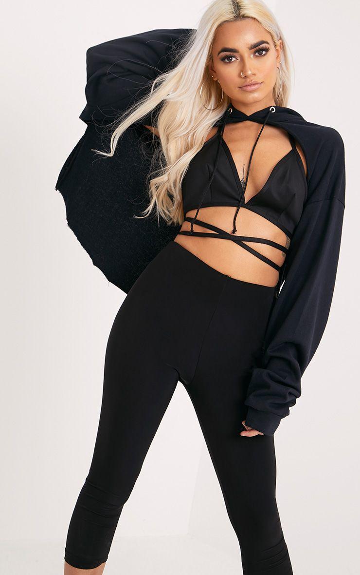 61162e7a96c22 Shauna Black Harness Bralet in 2019