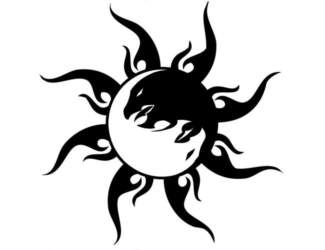 Dragon+symbols   Tribal Yin Yang Dragon Tattoo   Tattoo Tabatha ...