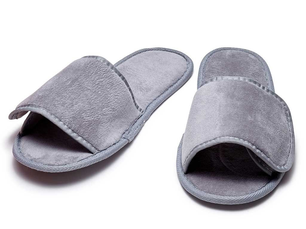 95196747cc4c2b Terry Slippers with Velcro Closure