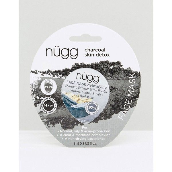 Nügg Charcoal Face Mask x 1 9ml ($5.18) ❤ liked on Polyvore featuring beauty products, skincare, face care, face masks, clear, moisturizing facial mask, moisturizing face mask, moisturising face mask, face cleansing mask and hydrating face mask
