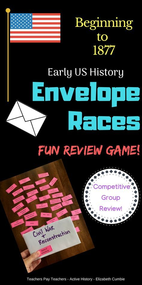 Photo of US History Review Game: Envelope Vocab Races Great for STAAR Review
