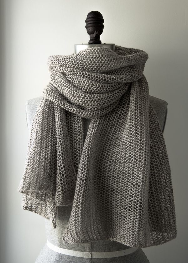 Quill Knitting Pattern : Open Air Wrap in Linen Quill Purl Soho-Knitting Pinterest Quill, Linens...
