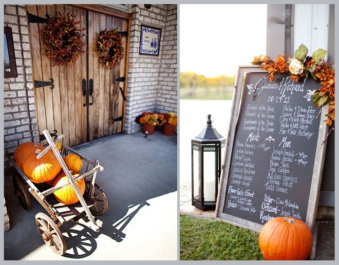 decoración: boda de otoño