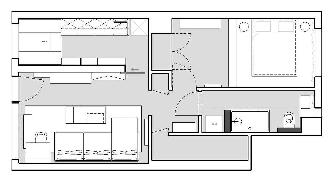 Gallery Of House Plans Under 50 Square Meters 30 More Helpful Examples Of Small Scale Living 45 Small Apartment Plans Studio Apartment Plan Apartment Layout