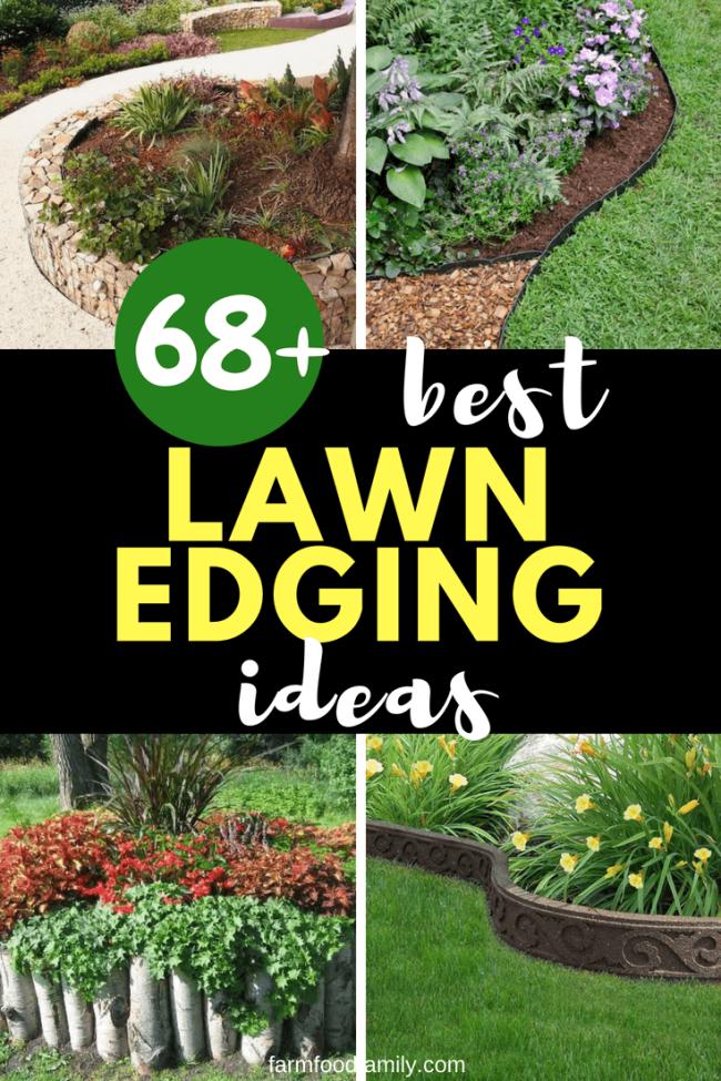 68 Lawn Edging Ideas That Will Transform Your Garden Lawn Edging