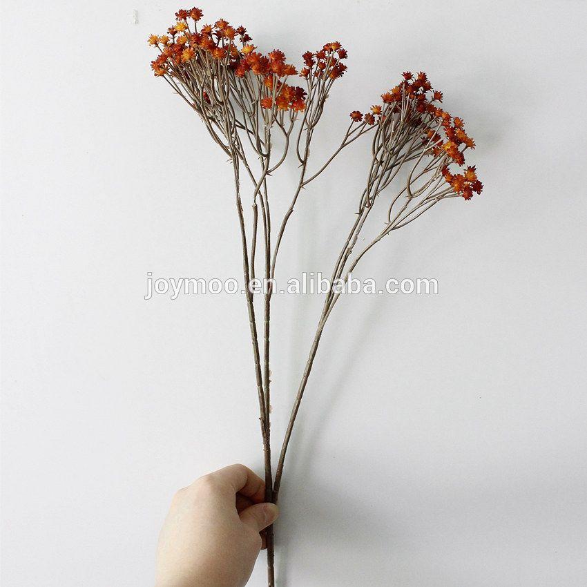 50pack Vivid Flower Bouquet Acrylic Crystal 3 Twigs f// Home Xmas Decor