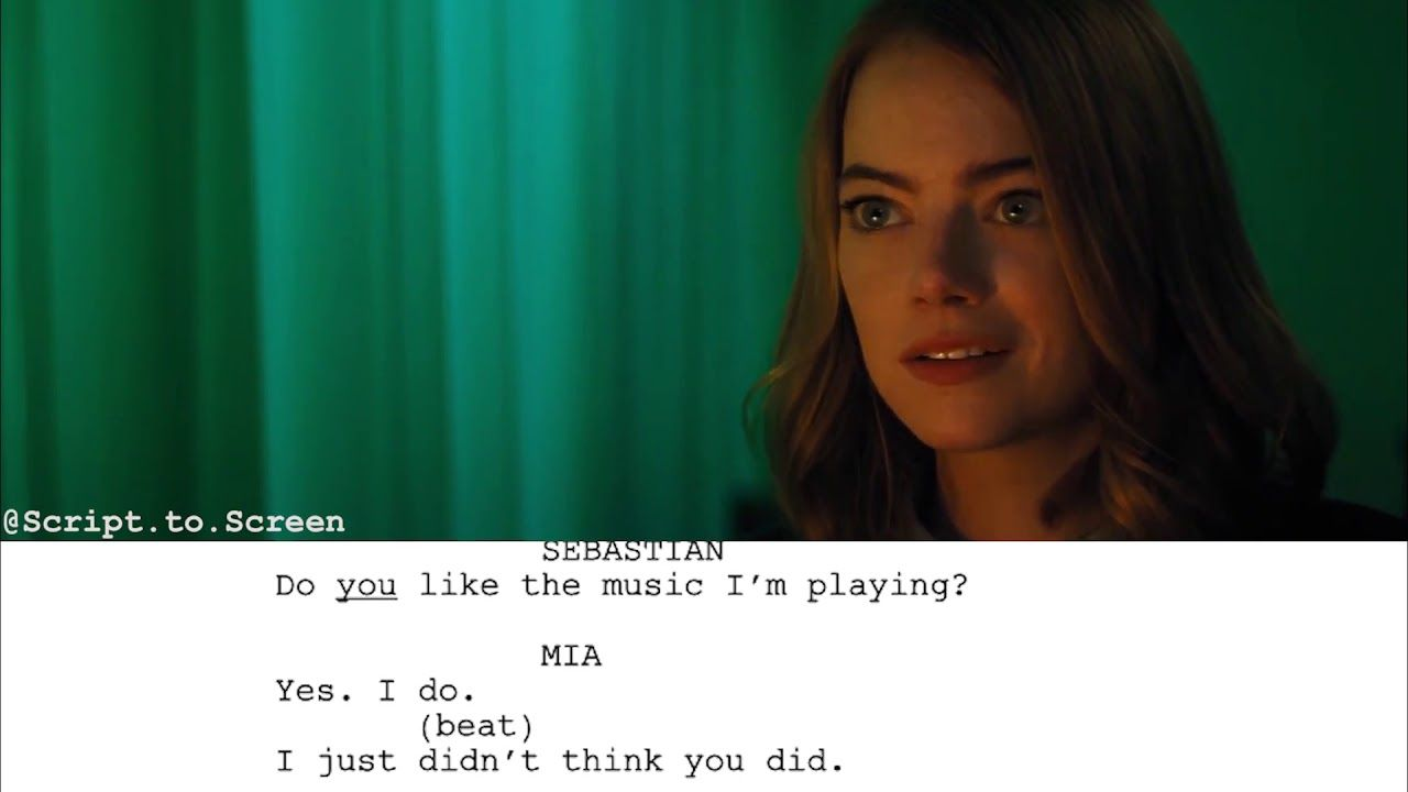 La La Land (2016) - Argument Scene | Script to Screen - YouTube