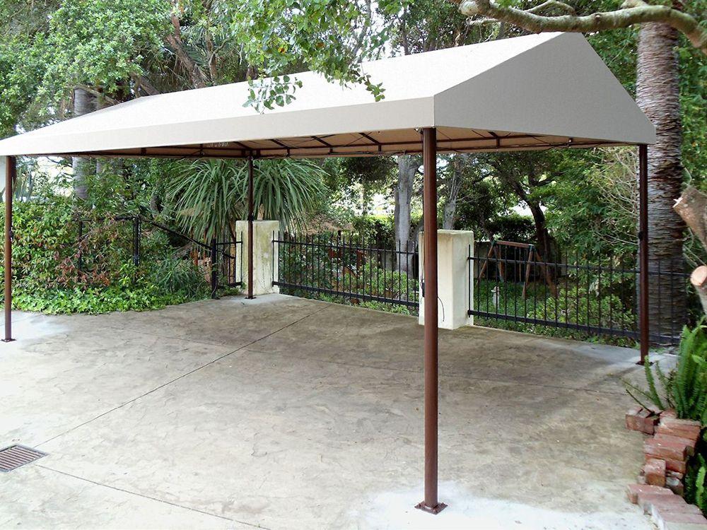 Arrow Eggshell 10 x 20 Steel Attached Carport/Patio Cover
