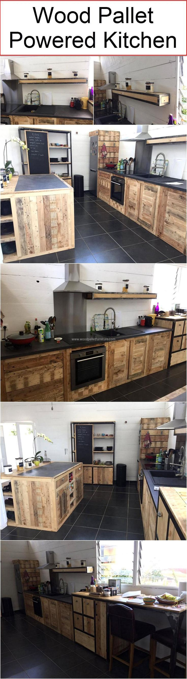 wood pallet powered kitchen creative items for home