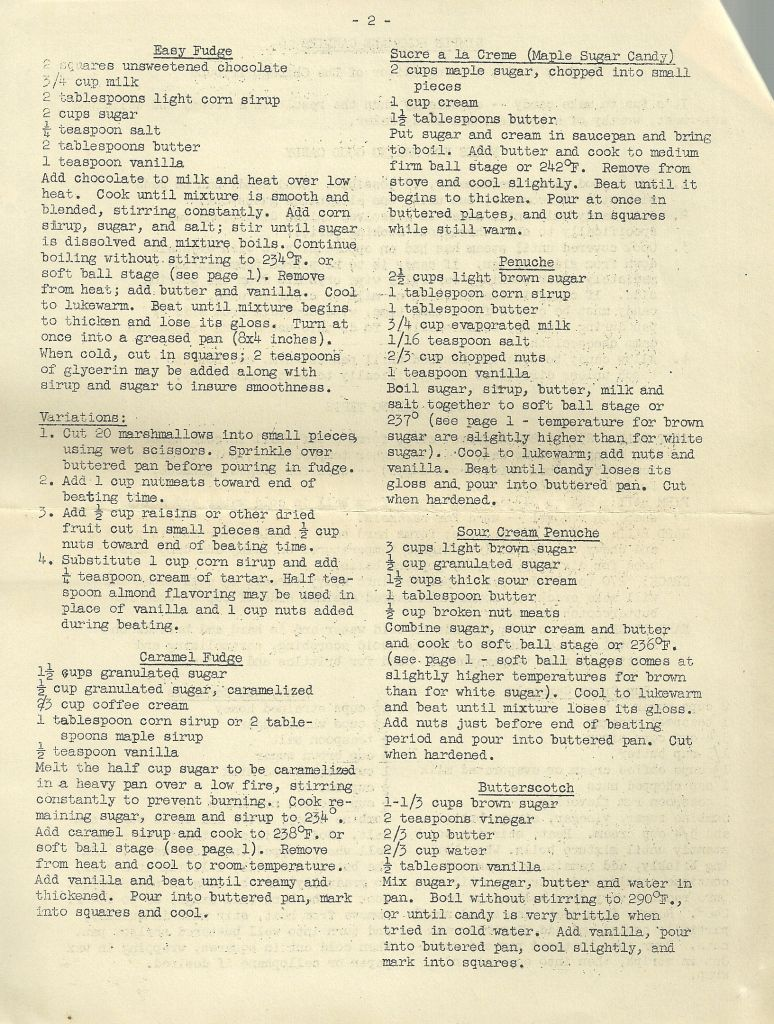 Vintage Recipes Simple Homemade Candies