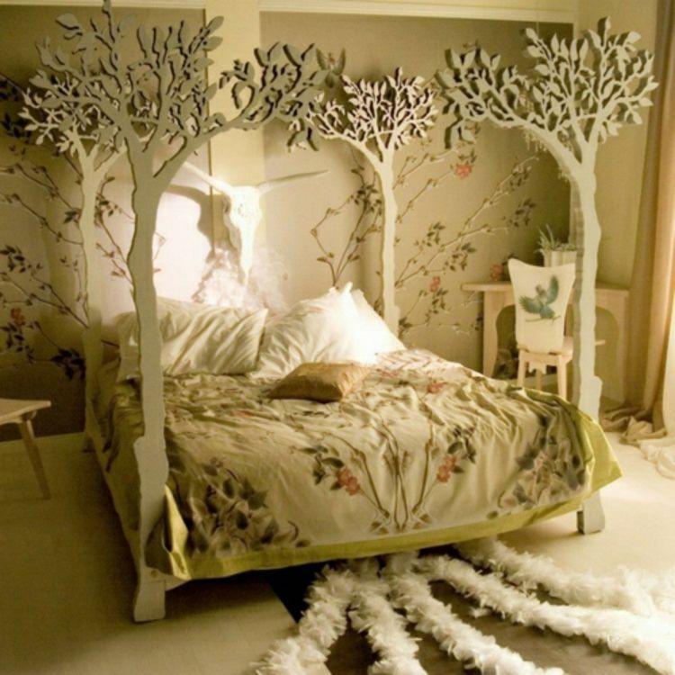 Schlafzimmer mit Baumdesign, #himmelbett #baum | sweet dreams ...