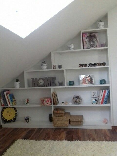 My Attic Shelves Corner For Some Details Attic Rooms Attic Shelves Attic Remodel