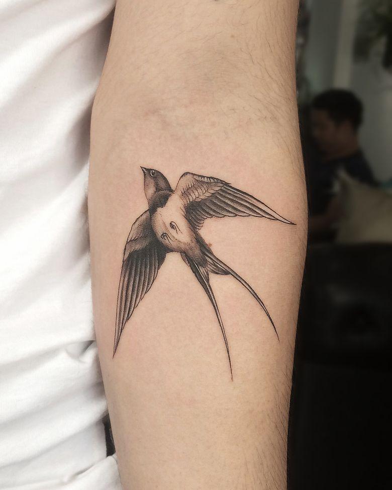 Pin By Hanna V On Birds Tattoo Swallow Bird Tattoos Tattoos With Meaning Swallow Tattoo Design